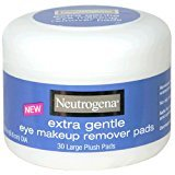 Neutrogena Eye Makeup Remover Large Plush Pads, Extra Gentle, 30 Count