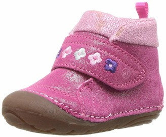 Stride Rite Baby-Girl's Sophie Adjustable Suede Boot Ankle