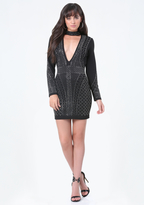 Bebe Alexa Embellished Dress