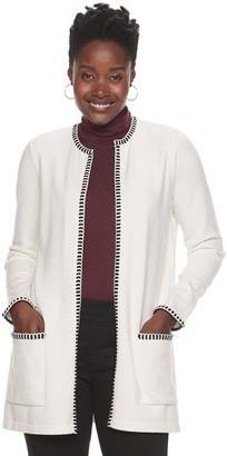 Croft & Barrow Women's Stitch-Trim Sweater Coat