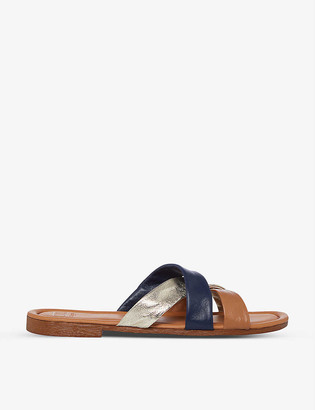 Dune Laural crossover-strap leather sandals