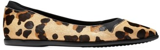 Cole Haan Grand Ambition Leopard-Print Calf Hair Flats