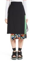 MSGM Women's Floral Underlay Skirt
