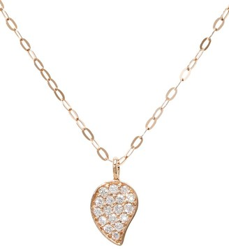 Tamara Comolli 18K Rose Gold & Diamond Pave Drop Pendant Chain Necklace
