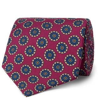 E.Marinella 8.5cm Printed Silk-Twill Tie