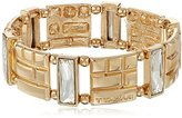 T Tahari with Crystal Wide Stretch Bracelet