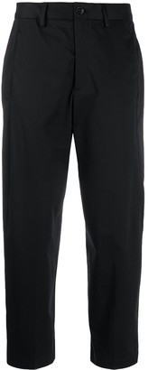 Closed High-Waist Cropped Trousers
