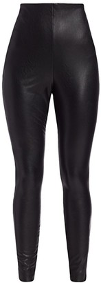 Commando Plus Faux Leather Control Leggings