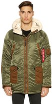 Alpha Industries N3-B3 Nylon & Faux Shearling Parka
