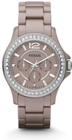 Fossil Riley Multifunction Ceramic Watch - Antique Pearl