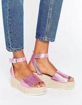 Asos TAKE OFF Wedge Espadrille Sandals