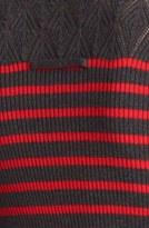 Jean Paul Gaultier Fuzzi Nautical Stripe Knit Turtleneck