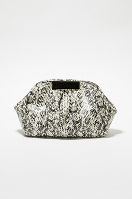 French Connection Kaya Faux Python Clutch