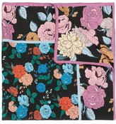 Mulberry floral-print silk scarf