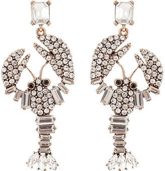 Eye Candy La Eye Candy LA Women's Earrings SILVER - Gray Crystal Embedded Lobster Drop Earrings