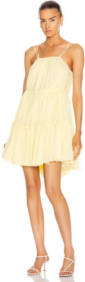 BROGNANO Sleeveless Tier Mini Dress in Yellow | FWRD