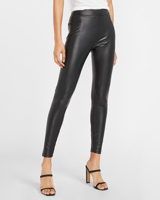 Express High Waisted Vegan Leather Stretch Ankle Leggings