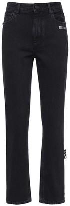 Off-White Straight Leg Cotton Denim Jeans