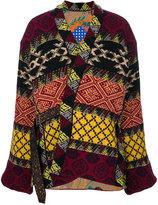 Etro jacquard pattern belted jacket