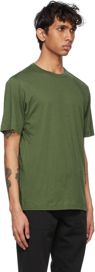 Thumbnail for your product : Dries Van Noten Green Overlock T-Shirt