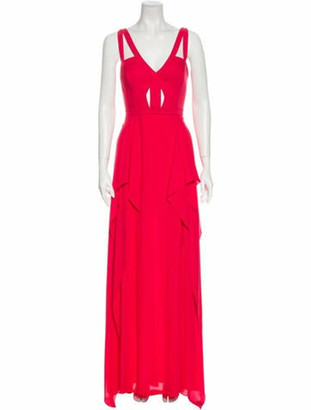 BCBGMAXAZRIA V-Neck Long Dress w/ Tags Red V-Neck Long Dress w/ Tags