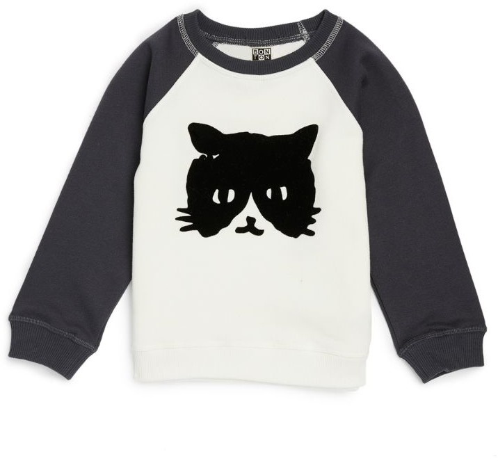 Bonton Cat Graphic Shirt (4-12 Years)