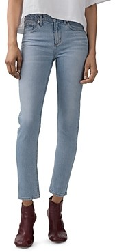 AGOLDE Toni High-Rise Slim Jeans in Daylight