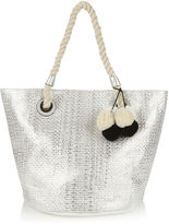 Oasis Woven Metallic Summer Shopper