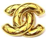 Chanel Gold Tone Hardware Coco Mark Matrasse Vintage Brooch