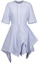 J.W.Anderson Open Knit-Trimmed Striped Cotton-Poplin Dress