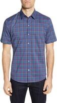 Zachary Prell Rennie Plaid Short Sleeve Button-Up Shirt