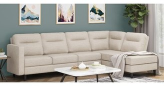 BEIGE Norwalk Right Hand Facing Sectional Latitude Run Upholstery Color
