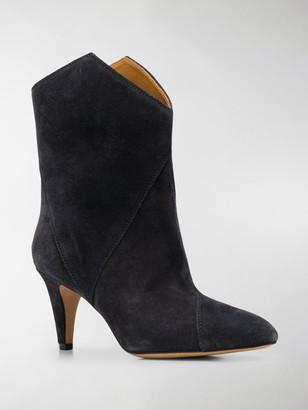 Isabel Marant Gometric-Panel Mid-Heel Boots