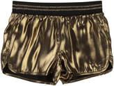 Little Marc Jacobs Black Viscose Reversible Satin Shorts
