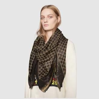 Gucci Lame GG jacquard shawl