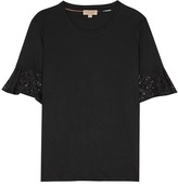 Burberry Lace-trimmed Cotton T-shirt
