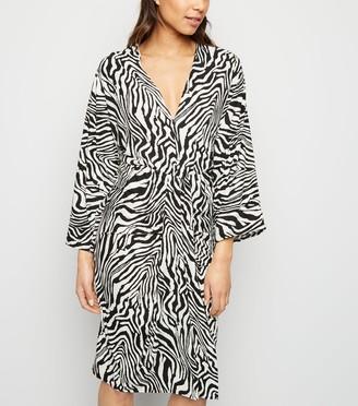 New Look AX Paris Zebra Print Batwing Midi Dress