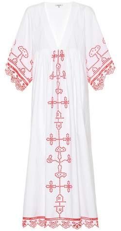 Ganni Peony embroidered cotton dress