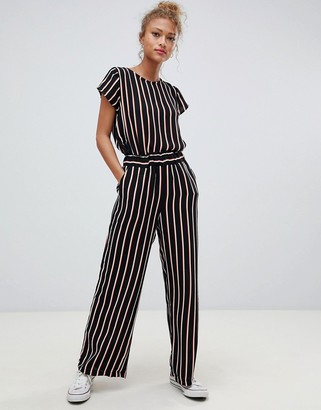 Blend She Nora stripe wide leg trousers