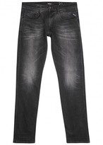 Replay Anbass Black Faded Slim-leg Jeans