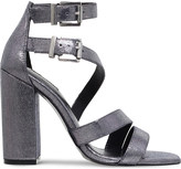Carvela Goody strappy fabric heeled sandals