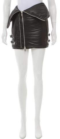 Givenchy Leather Down Skirt
