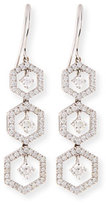 Turner & Tatler Hexagon Snowflake Drop Earrings with Diamonds