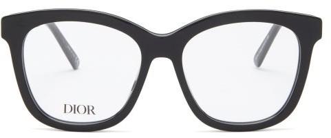 Christian Dior 30montaignemini Square Acetate Glasses - Black