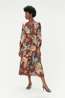 Coast Long Sleeve Floral Midi Dress