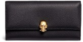 Alexander McQueen Skull charm leather French wallet