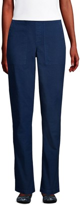 Lands' End Petite Canvas Pull-On Field Pants