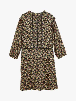 Oasis Curve Ditsy Floral Lace Skater Dress, Multi