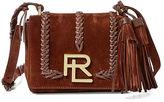 Ralph Lauren Whipstitched Suede Mini RL Bag