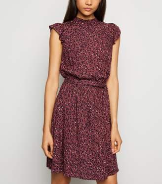 New Look Spot Frill Trim Mini Dress